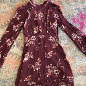 ASTR long sleeve floral dress
